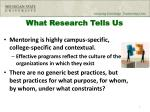 what research tells us1