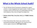 what is the whole school audit