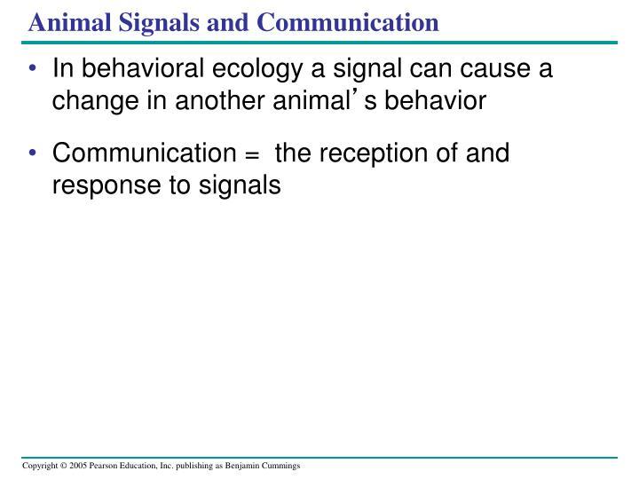 Animal Signals and Communication