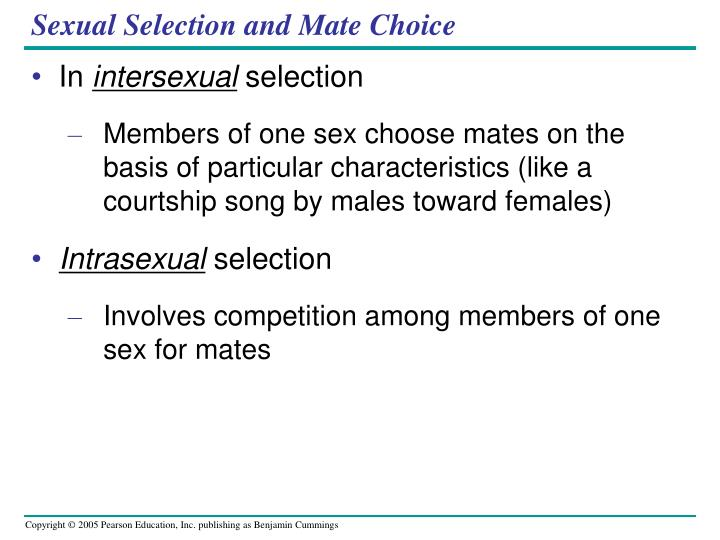 Sexual Selection and Mate Choice