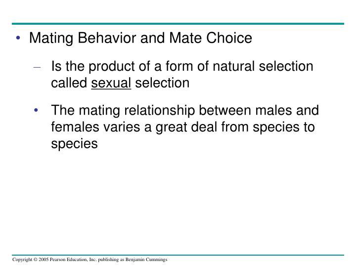 Mating Behavior and Mate Choice