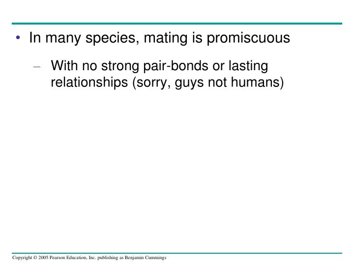 In many species, mating is promiscuous