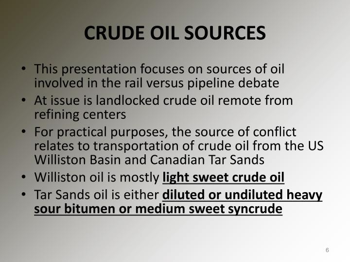 CRUDE OIL SOURCES
