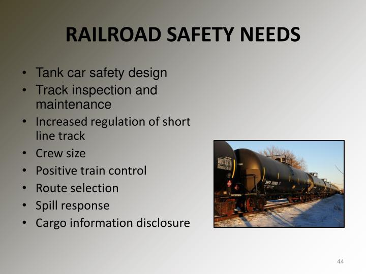 RAILROAD SAFETY NEEDS