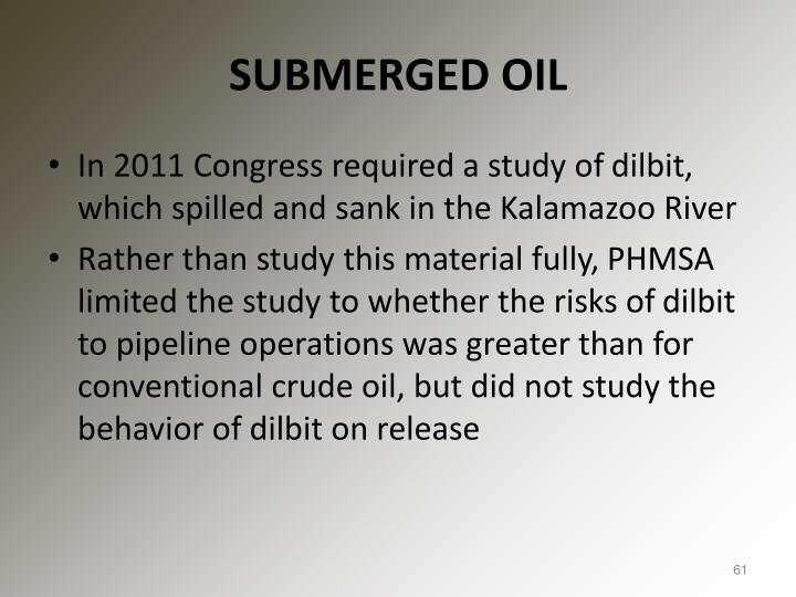 SUBMERGED OIL