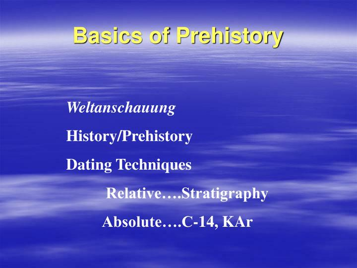 THERESE: Absolute and relative dating methods in prehistory