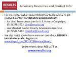 advocacy resources and contact info1
