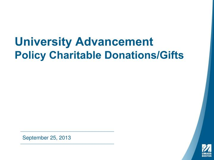 university advancement policy charitable donations gifts n.
