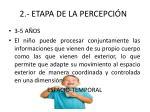 2 etapa de la percepci n