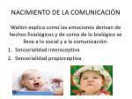 nacimiento de la comunicaci n