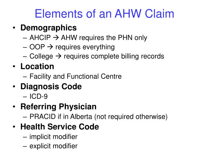 Elements of an AHW Claim