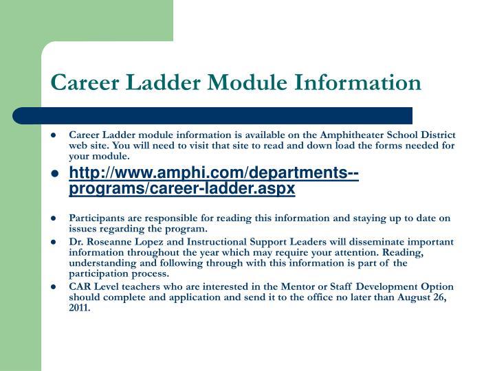 Career Ladder Module Information