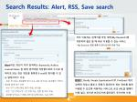 search results alert rss save search
