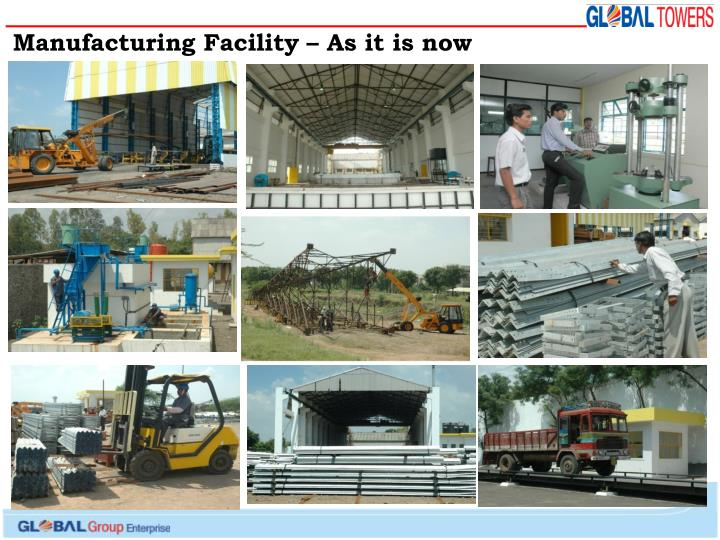 Manufacturing Facility – As it is now