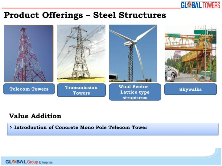 Product Offerings – Steel Structures