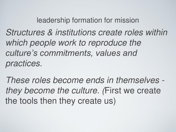 leadership formation for mission