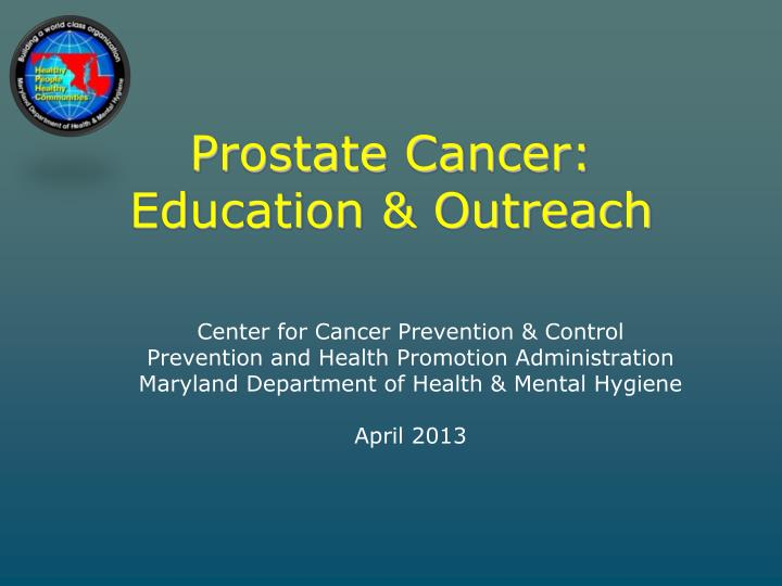prostate cancer education outreach n.