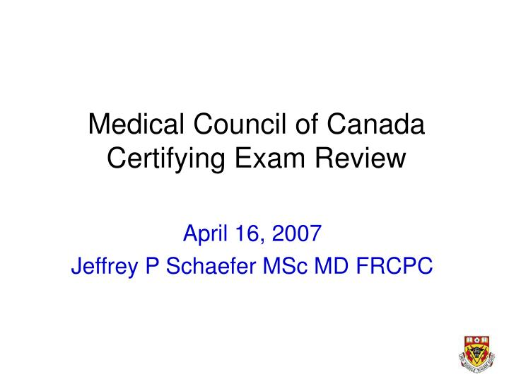 medical council of canada certifying exam review n.