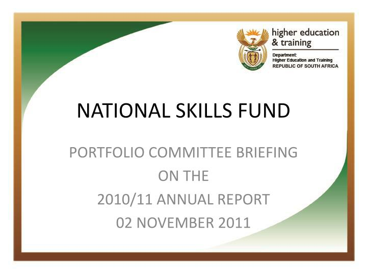 National skills fund