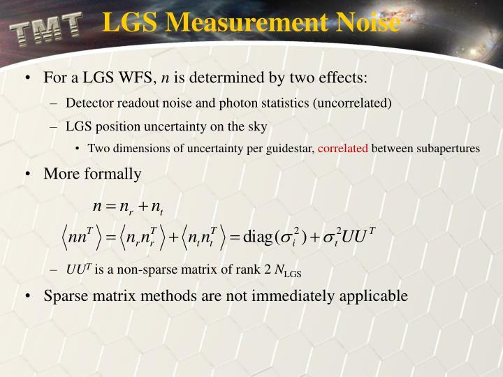 LGS Measurement Noise