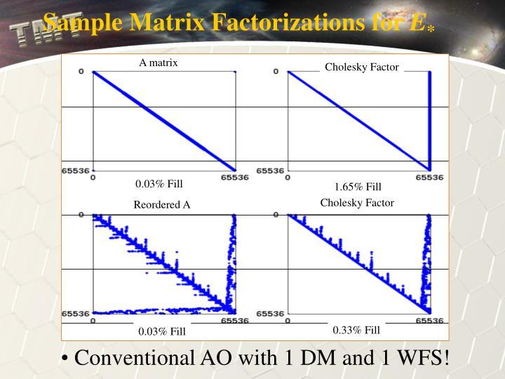 Sample Matrix Factorizations for