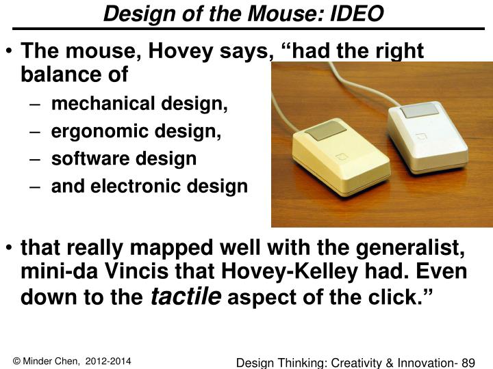 Design of the Mouse: IDEO