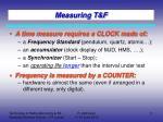 measuring t f