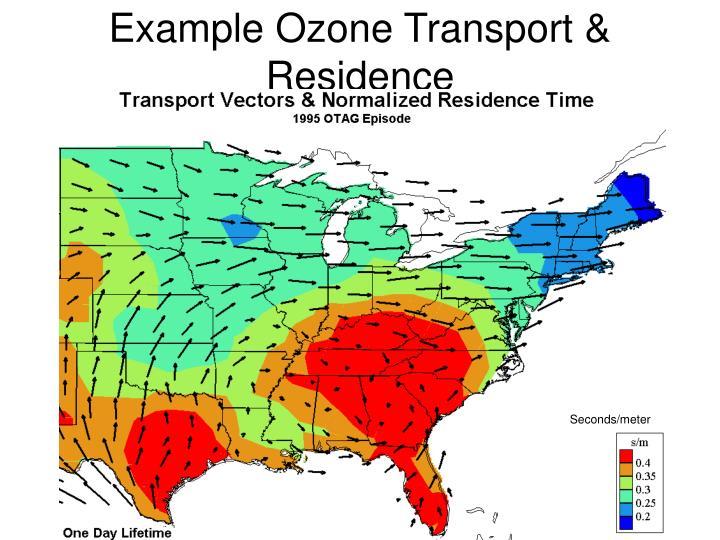 Example Ozone Transport & Residence
