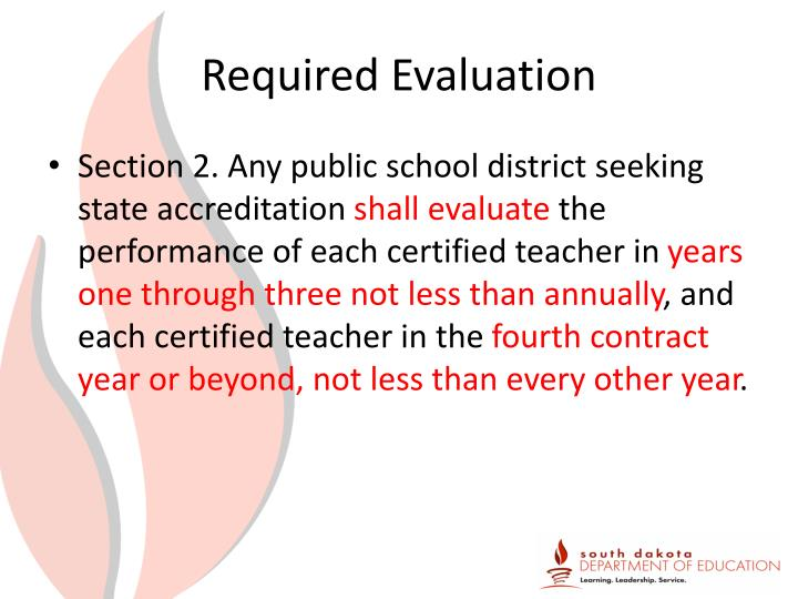 Required Evaluation
