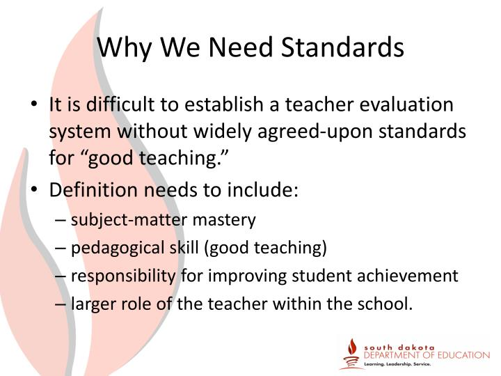 Why We Need Standards