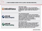 3 new segment banks with clearly defined missions