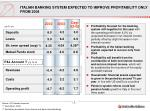 italian banking system expected to improve profitability only from 2004