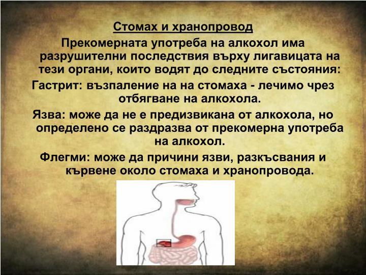 Стомах и хранопровод