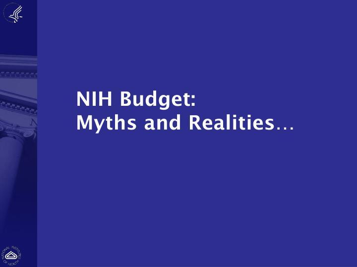 NIH Budget: