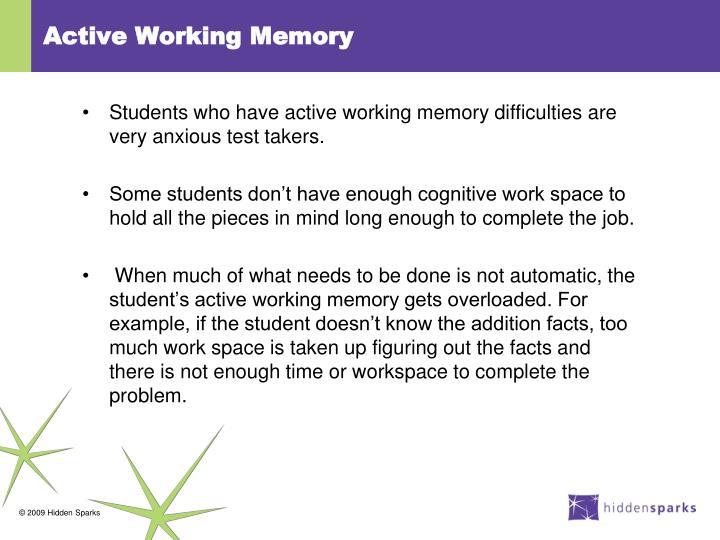 Active Working Memory