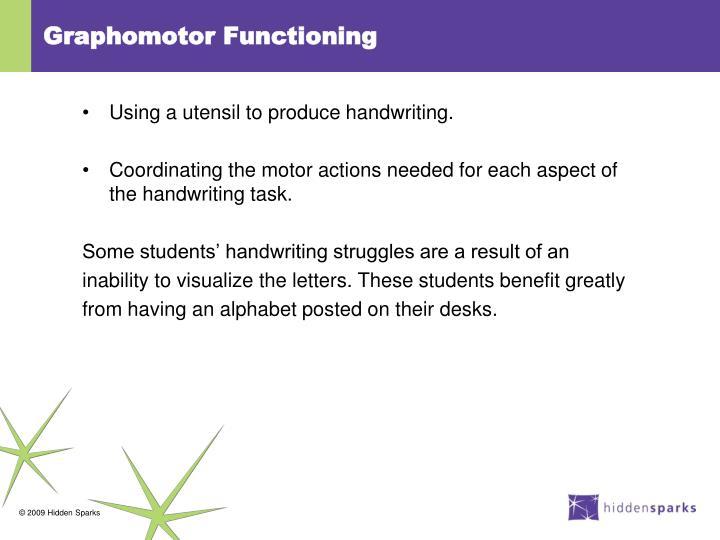 Graphomotor Functioning