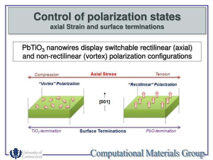 Control of polarization states