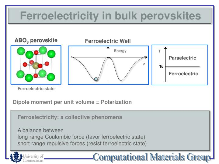 Ferroelectricity in bulk perovskites