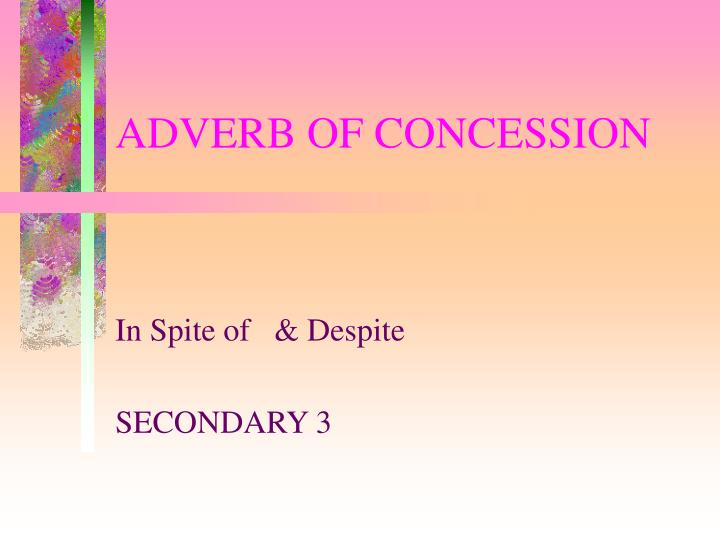 adverb of concession n.