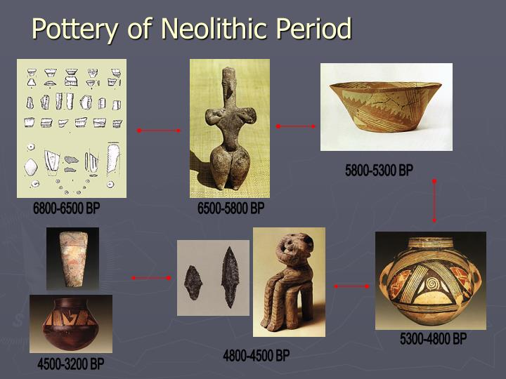 Pottery of neolithic period