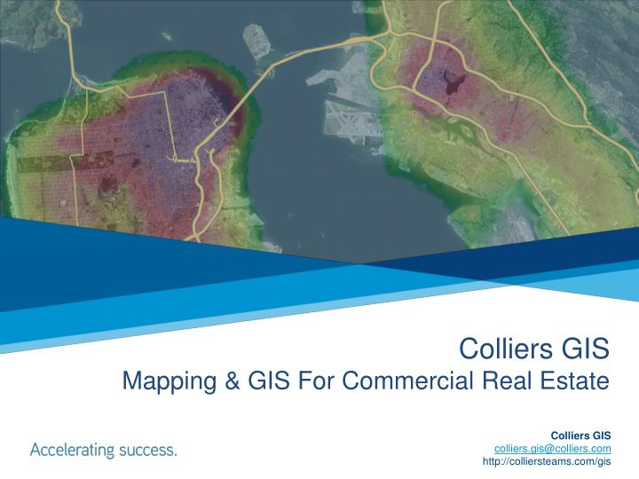 colliers gis mapping gis for commercial real estate