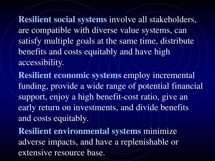Resilient social systems