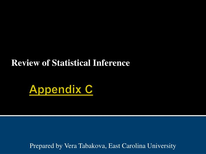 review of statistical inference n.