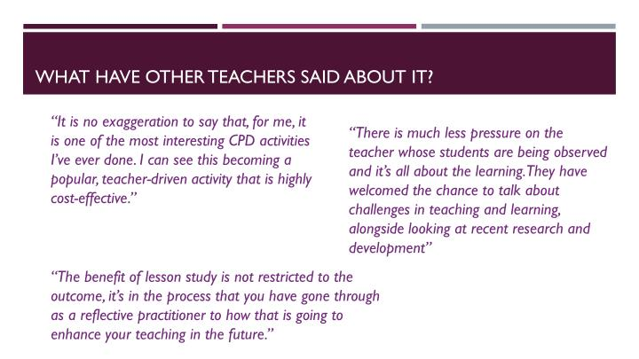 What have other teachers said about it?
