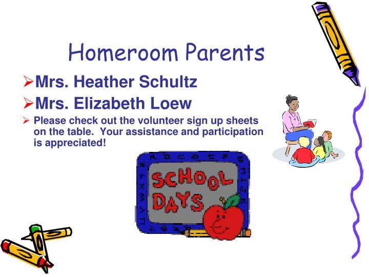 Homeroom Parents