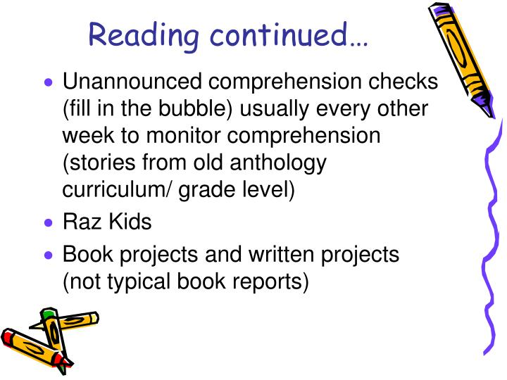 Reading continued…