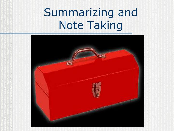 PPT Summarizing And Note Taking PowerPoint Presentation