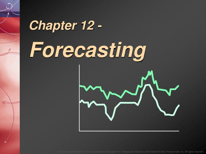 chapter 6 forecasting Chapter 6 regression analysis in many cases, factors other than trend and seasonality are influencing demand these factors are referred to as demand signals we can.