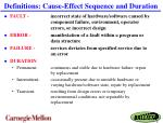 definitions cause effect sequence and duration