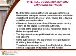 internal communication and language services